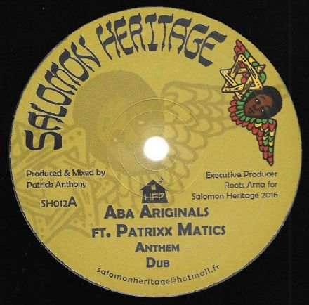 Aba Ariginals ft Patrick Matics - Anthem / Dub / Camden Town / Dub (Salomon Heritage) UK 12""
